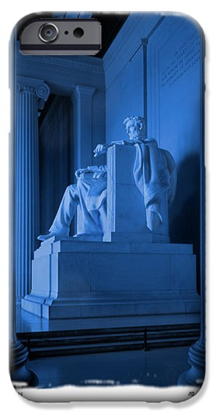 Memorial Digital iPhone Cases - Blue Lincoln iPhone Case by Mike McGlothlen