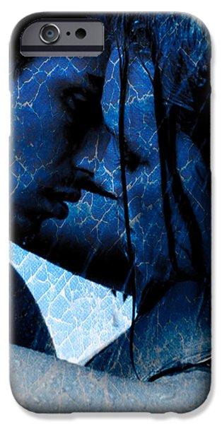 Teri Schuster Female iPhone Cases - Blue Lovers iPhone Case by Teri Schuster
