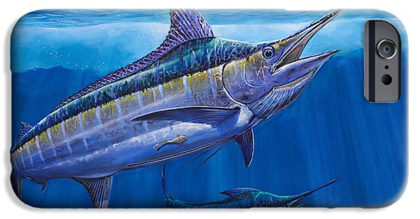 See iPhone Cases - Blue Marlin Bite Off001 iPhone Case by Carey Chen