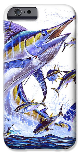 Vikings Paintings iPhone Cases - Blue Marlin iPhone Case by Carey Chen