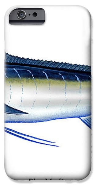 Blue Marlin iPhone Case by Charles Harden