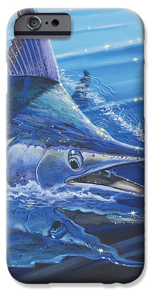 Blue Marlin strike Off0053 iPhone Case by Carey Chen