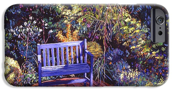 Terra Paintings iPhone Cases - Blue Meeting Chair iPhone Case by David Lloyd Glover