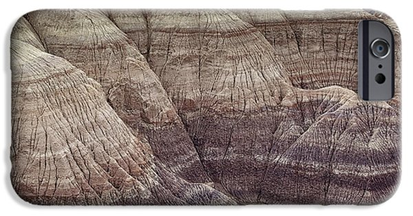 Petrified Forest Arizona iPhone Cases - Blue Mesa Strata iPhone Case by Phill  Doherty
