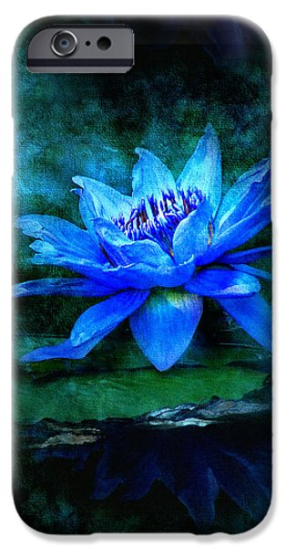 Water Lilly iPhone Cases - Blue Mist iPhone Case by Bill Voizin