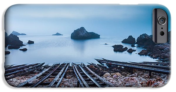 Fog Mist iPhone Cases - Blue Mist Hour iPhone Case by Evgeni Dinev
