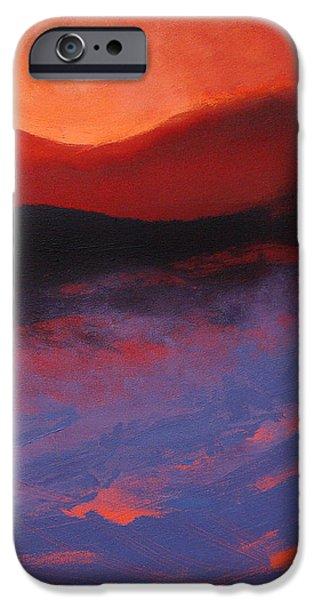 Blue Mist Rising iPhone Case by Neil McBride