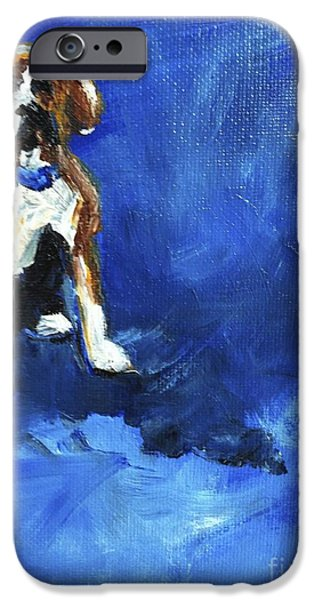Boxer Dog iPhone Cases - Blue Monday iPhone Case by Maria