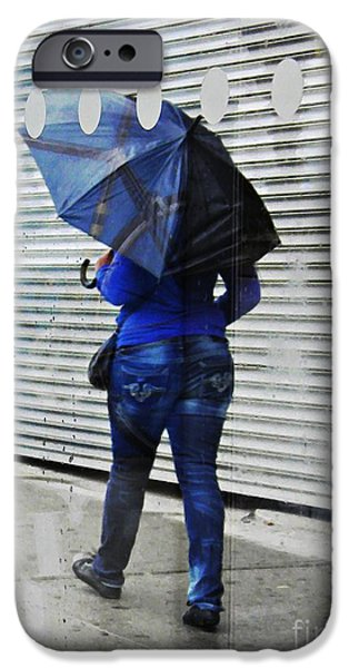 Rainy Day iPhone Cases - Blue Monday iPhone Case by Sarah Loft