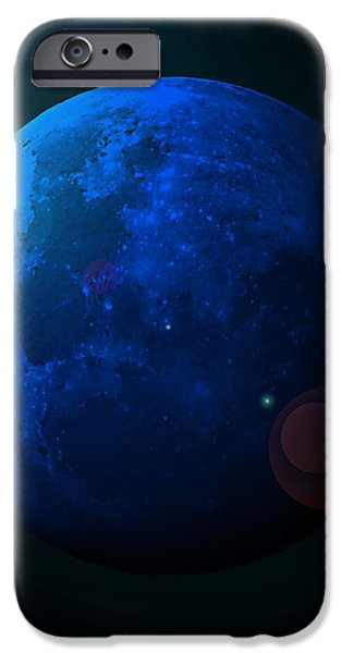 Blue Moon Digital Art iPhone Case by Al Powell Photography USA