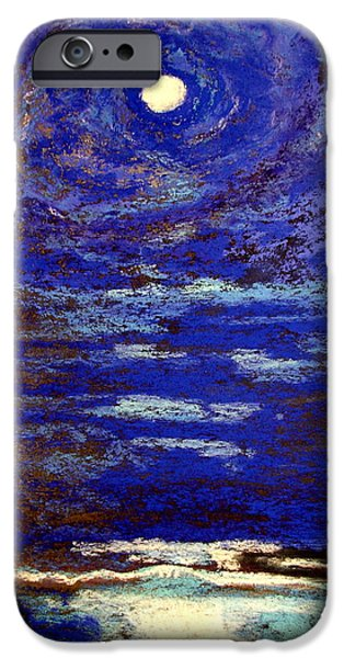 Dark Skies Pastels iPhone Cases - Blue Moon iPhone Case by Joseph Hawkins