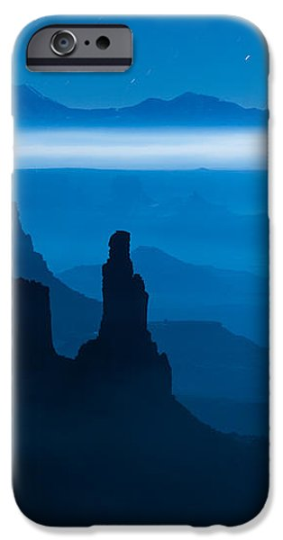 Blue Moon Mesa iPhone Case by Dustin  LeFevre