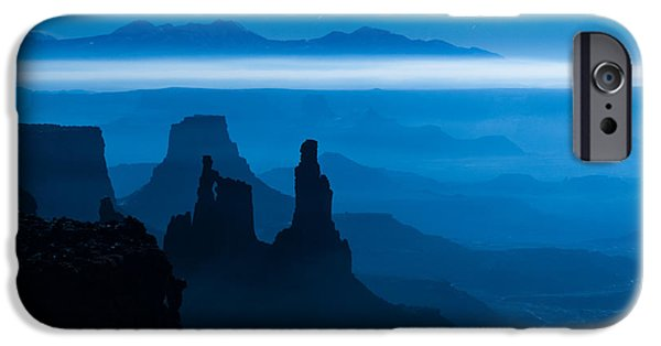 Southern Utah iPhone Cases - Blue Moon Mesa iPhone Case by Dustin  LeFevre