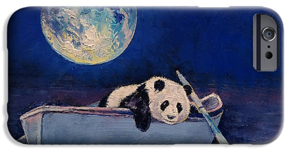 Michael Creese iPhone Cases - Blue Moon iPhone Case by Michael Creese