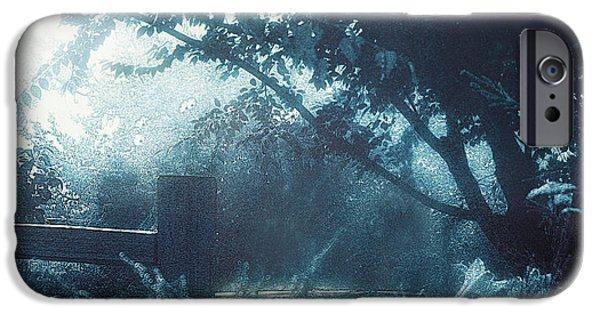 Moonscape iPhone Cases - Blue Moon Now and Then iPhone Case by Douglas MooreZart