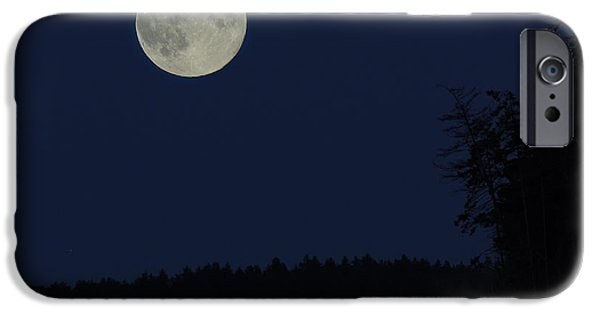 Bc Coast iPhone Cases - Blue Moon iPhone Case by Randy Hall