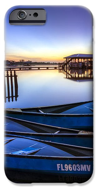 Blue Morning iPhone Case by Debra and Dave Vanderlaan