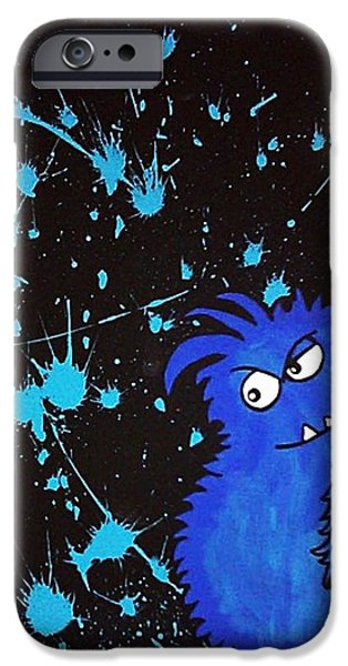 Vibrant Colors Drawings iPhone Cases - Blue iPhone Case by Natalie Rogers