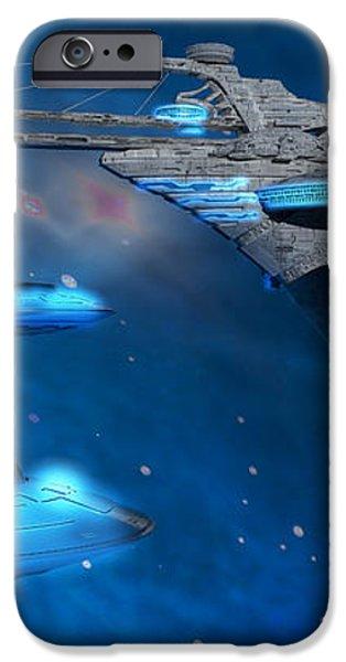 Blue Nebula Expanse iPhone Case by Corey Ford