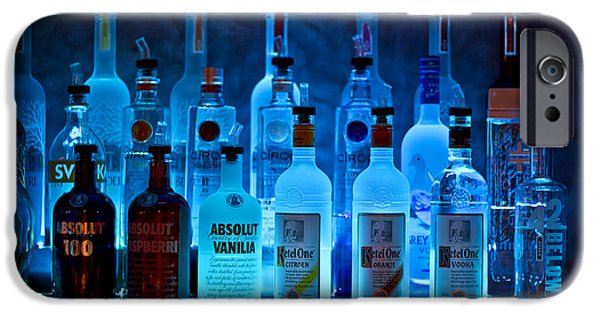 Booze iPhone Cases - Blue Night Shadows iPhone Case by Evelina Kremsdorf
