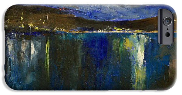 Michael Paintings iPhone Cases - Blue Nocturne iPhone Case by Michael Creese