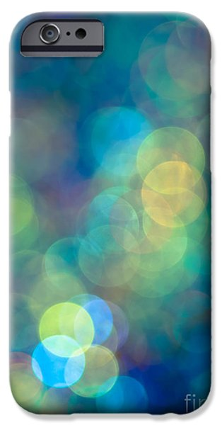 Modern Abstract iPhone Cases - Blue of the Night iPhone Case by Jan Bickerton