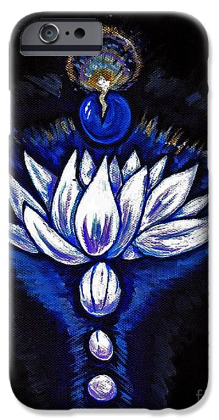Inner Self Paintings iPhone Cases - Blue Pearl iPhone Case by Lorah Buchanan