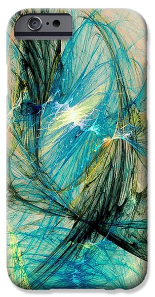 Anastasiya Mixed Media iPhone Cases - Blue Phoenix iPhone Case by Anastasiya Malakhova