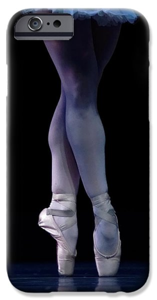 Ballet Dancers Photographs iPhone Cases - Blue Pointe iPhone Case by Lone  Dakota Photography