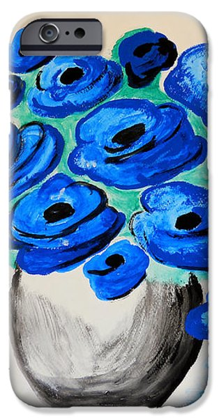 Blue Poppies iPhone Case by Ramona Matei