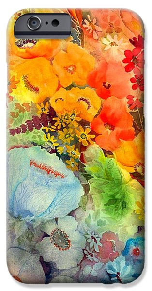 Tasteful Art iPhone Cases - Blue Poppy iPhone Case by Neela Pushparaj