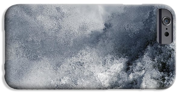 Fury iPhone Cases - Blue Poseidon iPhone Case by Lincoln Rogers