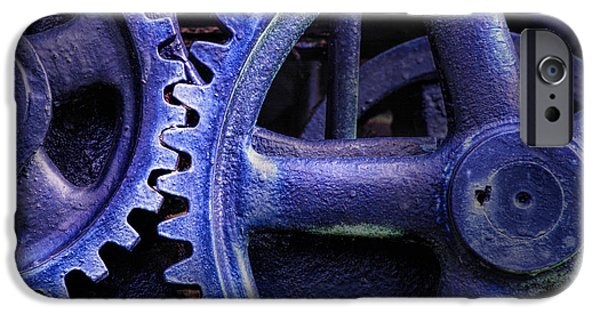 Machinery iPhone Cases - Blue Power iPhone Case by David and Carol Kelly