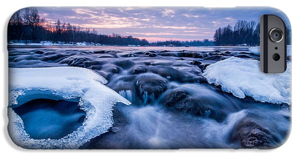 Blue iPhone Cases - Blue rapids iPhone Case by Davorin Mance