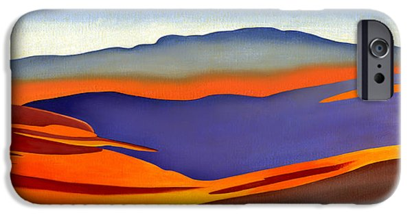 Catherine White Paintings iPhone Cases - Blue Ridge Mountains East Fall Art Abstract iPhone Case by Catherine Twomey