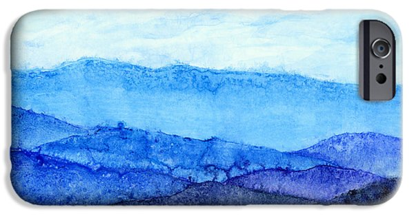Monochrome iPhone Cases - Blue Ridge Mountains iPhone Case by Hailey E Herrera