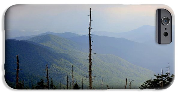 Smokey Mountains iPhone Cases - Blue Ridge Mountains iPhone Case by Karen Wiles