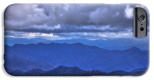 Smokey Mountain Drive iPhone Cases - Under The Cloud Cover Blue Ridge Mountains North Carolina iPhone Case by Reid Callaway