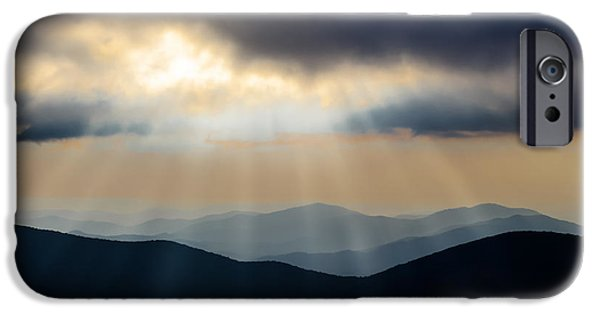 Devil Ray iPhone Cases - Blue Ridge Mountains iPhone Case by Steve Stephenson