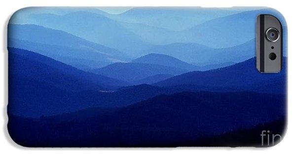 Virginia iPhone Cases - Blue Ridge Mountains iPhone Case by Thomas R Fletcher