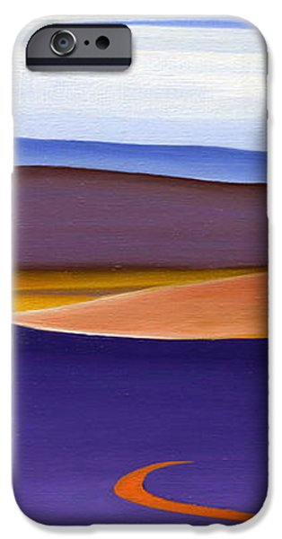 Blue Ridge Orange Mountains Sky and Road in Fall iPhone Case by Catherine Twomey