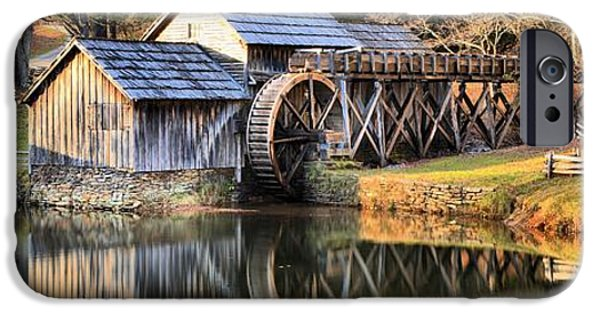Grist Mill iPhone Cases - Blue Ridge Parkway - Mabry Grist Mill iPhone Case by Adam Jewell