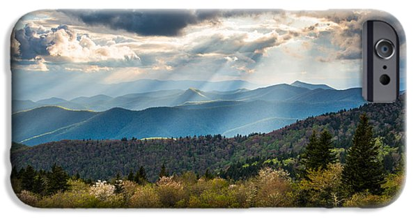 Dave iPhone Cases - Blue Ridge Parkway North Carolina Mountains Gods Country iPhone Case by Dave Allen