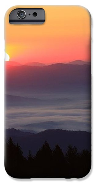Blue Ridge Parkway Sea of Clouds iPhone Case by Michael Weeks
