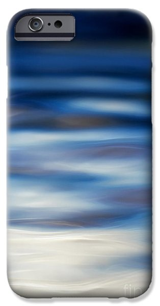 Blue iPhone Cases - Blue Ripple iPhone Case by Tim Gainey