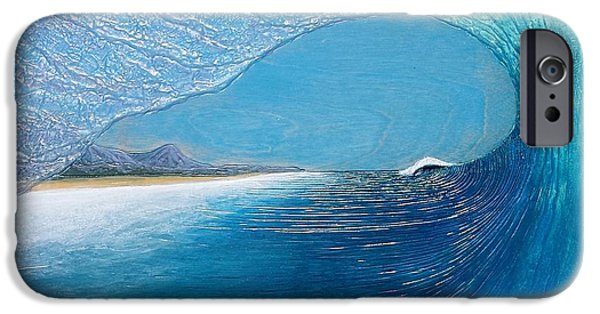 Ocean Reliefs iPhone Cases - Blue Room iPhone Case by Nathan Ledyard