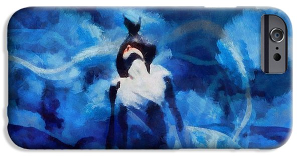 Buddhism Mixed Media iPhone Cases - Blue Seduction iPhone Case by Dan Sproul