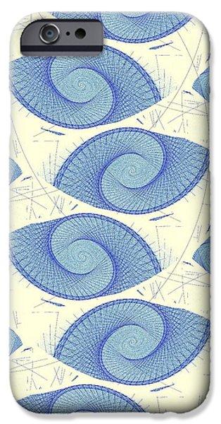 Inside iPhone Cases - Blue Shells iPhone Case by Anastasiya Malakhova