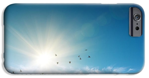 Stratosphere iPhone Cases - Blue Sky iPhone Case by Carlos Caetano
