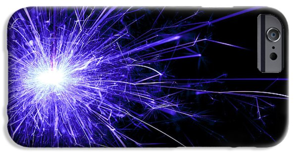 Sparkling iPhone Cases - Blue Sparkle iPhone Case by Samuel Whitton